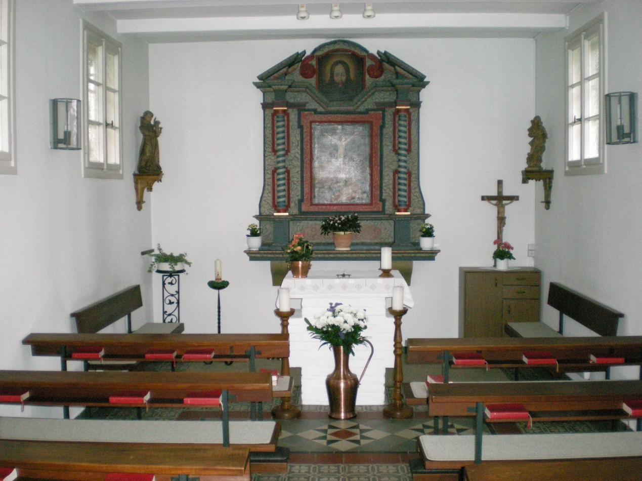 Innenansicht der Brinkkapelle nach der Renovierung in den Jahren 1983 - 1985
